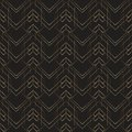 Art deco geometric pattern gold lines black background Royalty Free Stock Photo