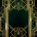 Art Deco Great Gatsby Background Royalty Free Stock Photo