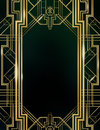 Art deco great gatsby background inspired by the Stock Images