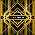 Art deco grille metallic abstract geometric pattern in the style Royalty Free Stock Photo