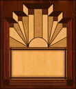 Art Deco Inlay Wooden Frame Royalty Free Stock Photo