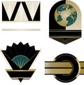 Art deco logos and design elements a collection of four mixed fully editable in vector format Stock Photo