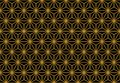 Art Deco Monochrome Gold Seamless Wallpaper or Background Royalty Free Stock Photo