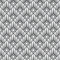 Art deco monochrome seamless arabic black