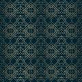 Art deco pattern gold lines dark background