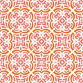 Art deco pattern with organic floral shapes Royalty Free Stock Photo