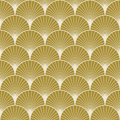 Art deco pattern of overlapping arcs Royalty Free Stock Photo
