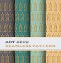 Art Deco seamless pattern 28 Royalty Free Stock Photo
