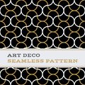 Art Deco seamless pattern black white and gold colours 10