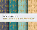 Art Deco seamless pattern 07 Royalty Free Stock Photo
