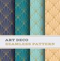 Art Deco seamless pattern 11 Royalty Free Stock Photo