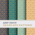 Art Deco seamless pattern 40 Royalty Free Stock Photo