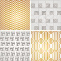 Art Deco seamless vintage wallpaper patterns set Royalty Free Stock Photo