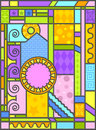 Art-deco stained glass art