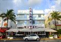 Art Deco Style Colony in Miami Beach Royalty Free Stock Image