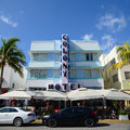 Art Deco Style Colony in Miami Beach Stock Photo