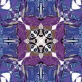 MANDALA ART DECO BLUE AND PURPLE, WITH WHITE CENTER, CELTIC IMAGE IN THE CENTER, ABSTRACT BACKGROUND, BLUE, PURPLE, BROWN, WHITE,