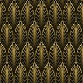 Art Deco style seamless pattern Royalty Free Stock Photo