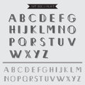 Art deco type font vintage typography in vector eps Stock Photography
