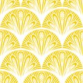 Art deco vector geometric pattern in bright yellow seamless texture for web print wallpaper christmas gift wrapping home decor Stock Photo