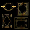 Art Deco Vintage frames Stock Images