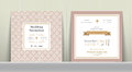 Art Deco Wedding Invitation Card in Gold and Pink Royalty Free Stock Photo