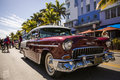 Art deco weekend classic chevyduring in miami beach florida Royalty Free Stock Image