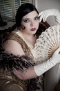 Art Deco Woman Royalty Free Stock Photo