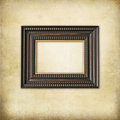 Art deco wooden empty frame Royalty Free Stock Images