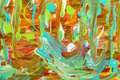 Art drips acrylic paints background