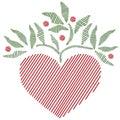 Art embroidered folk heart style Стоковая Фотография RF