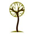 Art fairy illustration of tree, stylized eco symbol. Insight vector image on season idea, beautiful plant.