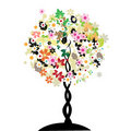 Art floral tree Stock Photography