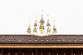 Art of gable apex in thai Temple , Isolated Royalty Free Stock Image