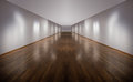 Art gallery huge empty with white walls Royalty Free Stock Images