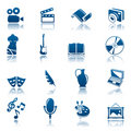 Art & hobby icon set Royalty Free Stock Photo