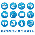 Art & hobby icons Royalty Free Stock Photo