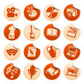Art & hobby stickers Royalty Free Stock Photo