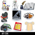 Art icons Stock Photo