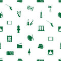 Art icons pattern seamless eps simple Royalty Free Stock Image