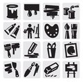 Art icons set Royalty Free Stock Image