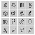 Art icons set this is file of eps format Royalty Free Stock Photos