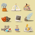 Art icons vector cartoon style set with Stock Photo