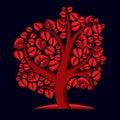 Art illustration of autumn branchy tree stylized ecology symbol graphic design vector image on season idea environmental Stock Photos