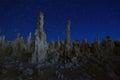 Art landscape image of the tufas of mono lake beautiful Royalty Free Stock Images