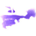 Art The lilac watercolor ink paint blob