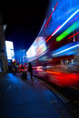 Art London night city traffic Royalty Free Stock Photo