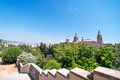 Art museum barcelona national Photo stock