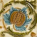 Art Nouveau antique tile Royalty Free Stock Photo