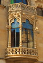 Art nouveau architecture fragment of house in the town of reus the birthplace of the architect gaudi Royalty Free Stock Photography